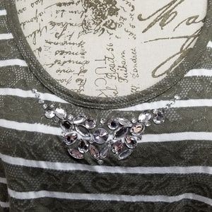 Lane Bryant Tops - Lane Bryant Plus Size Embellished Tank 18/20